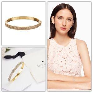 Kate Spade Heavy Metals Pavé Row Bangle Bracelet